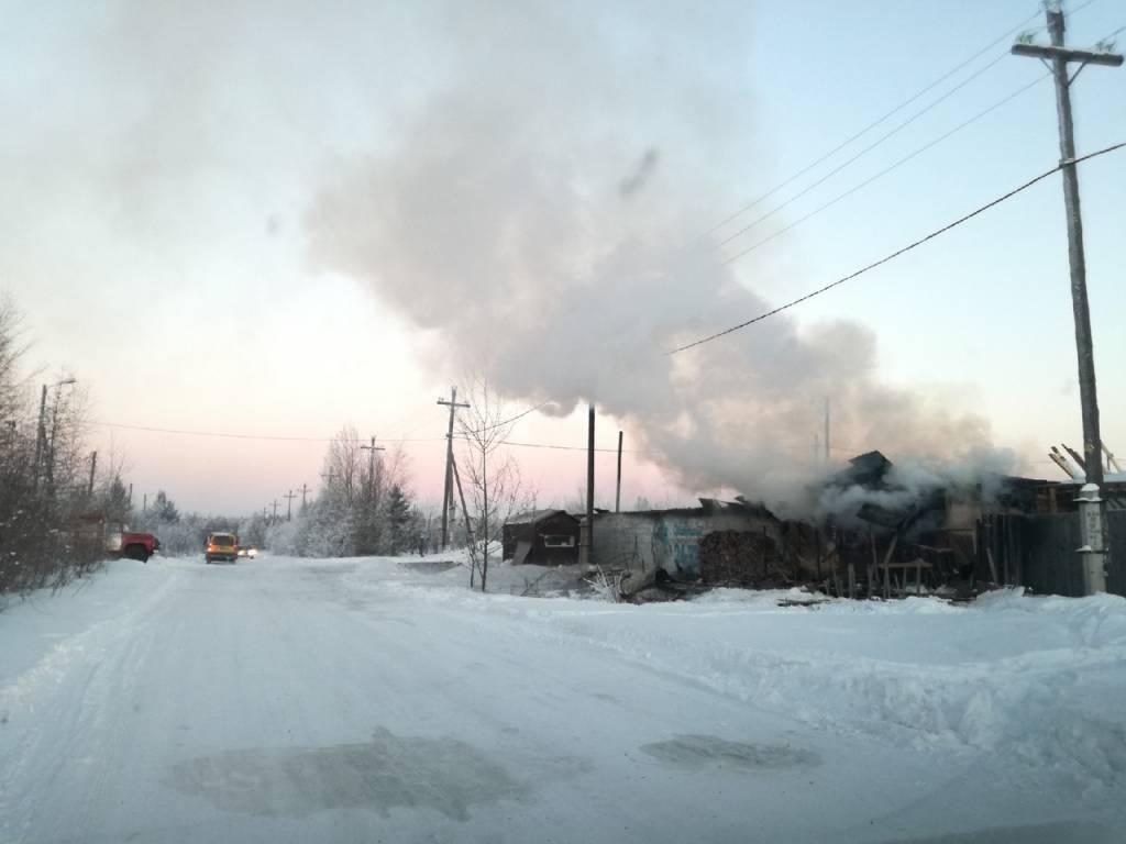 В конном клубе Братска произошел крупный пожар
