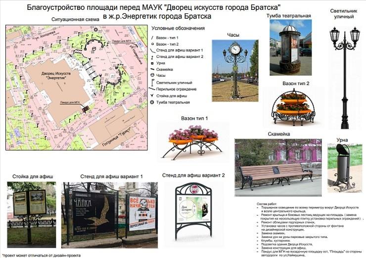 Братчане выбрали общественные территории по программе «Комфортная городская среда» на 2020 год