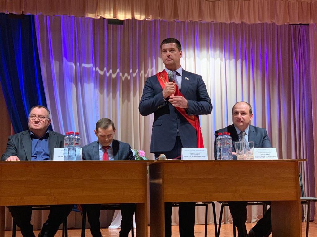 Депутату Государственной Думы Андрею Чернышеву вручили знак «Почетный гражданин Балаганского района»