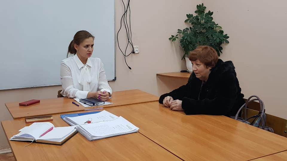 Депутат Думы Братска Яна Синявская провела очередной прием жителей Энергетика