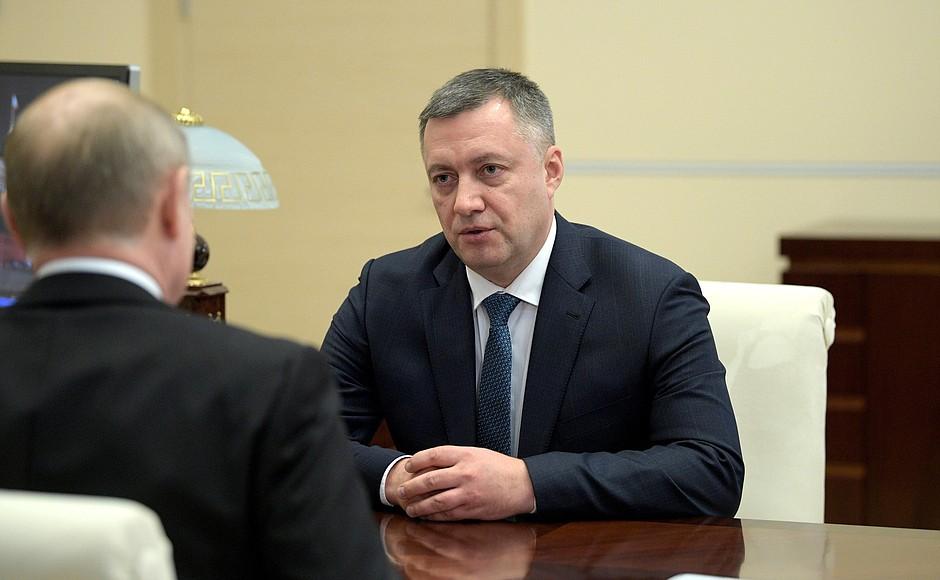 Врио губернатора Иркутской области назначен Игорь Кобзев