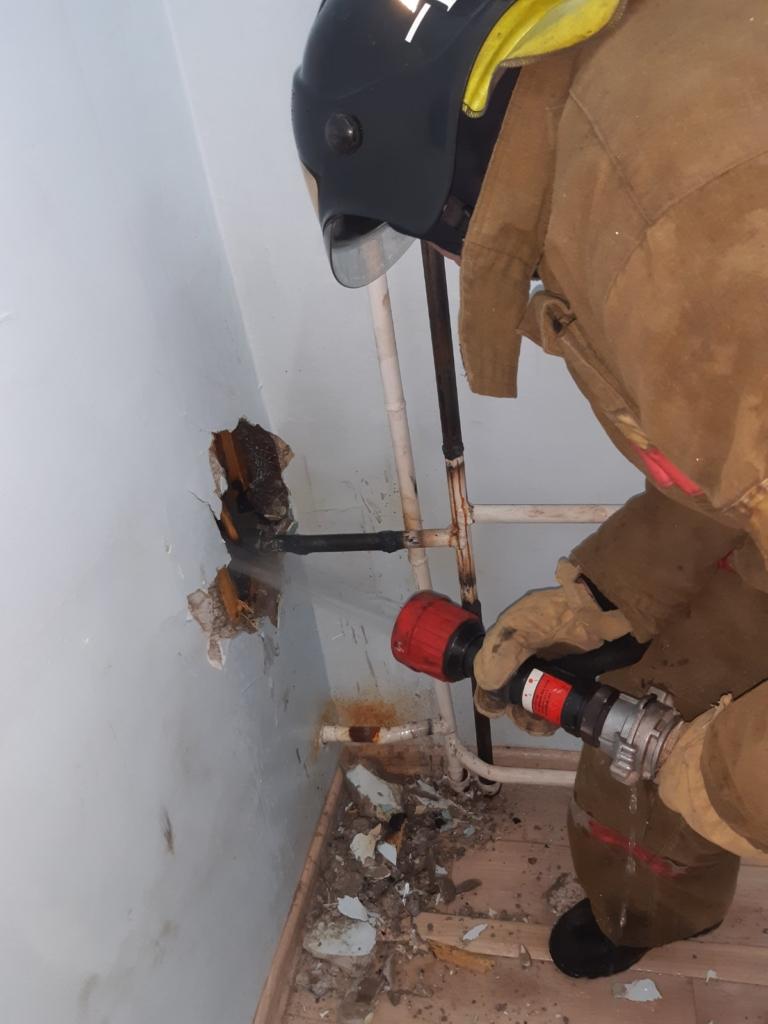Накануне в Вихоревке произошло возгорание в здании больницы