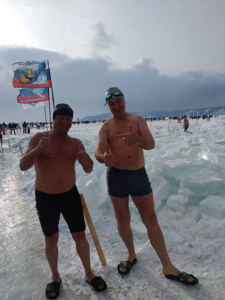 Братские моржи покорили Байкал