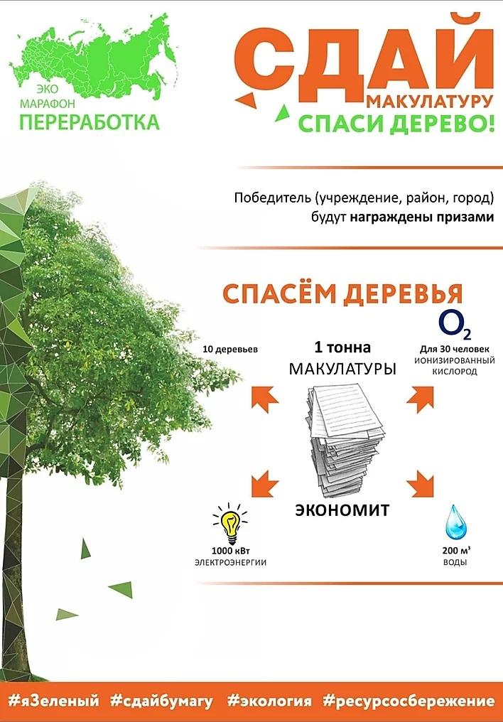 """Стань ЭКО-героем! В Иркутской области стартует проект """"Сдай макулатуру - спаси дерево"""""""