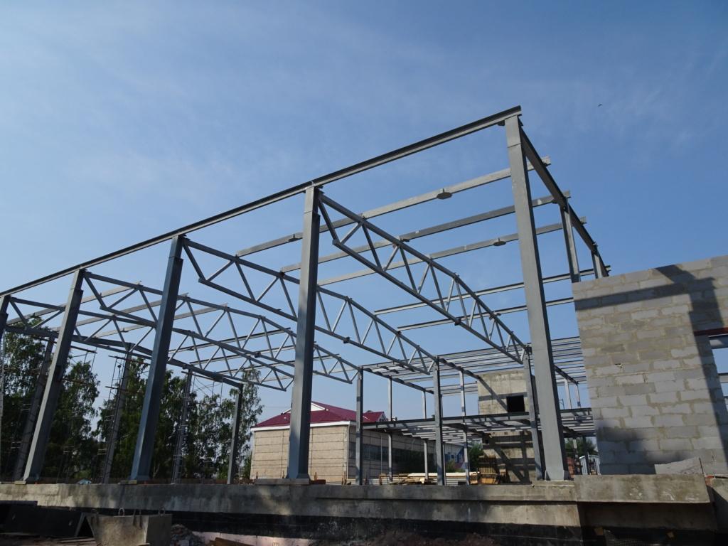 Андрей Чернышев: Завершается монтаж металлокаркаса здания бассейна Братского университета