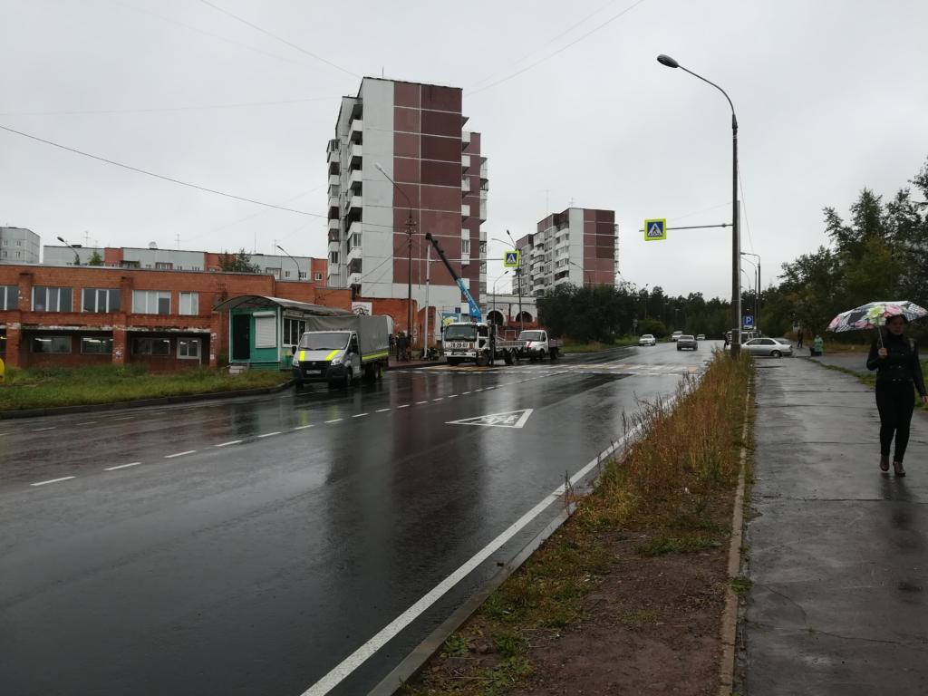 Современная зебра. На улице Зверева в Братске обустроили современный пешеходный переход
