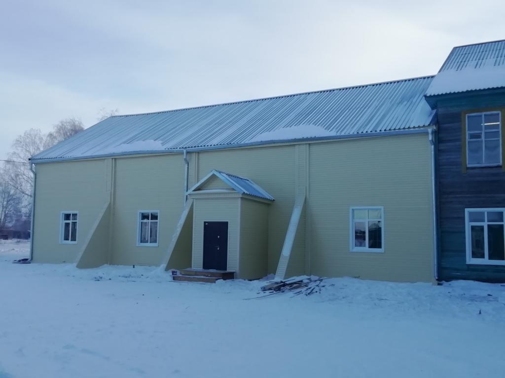 В школе села Калтук отремонтировали спортивный зал