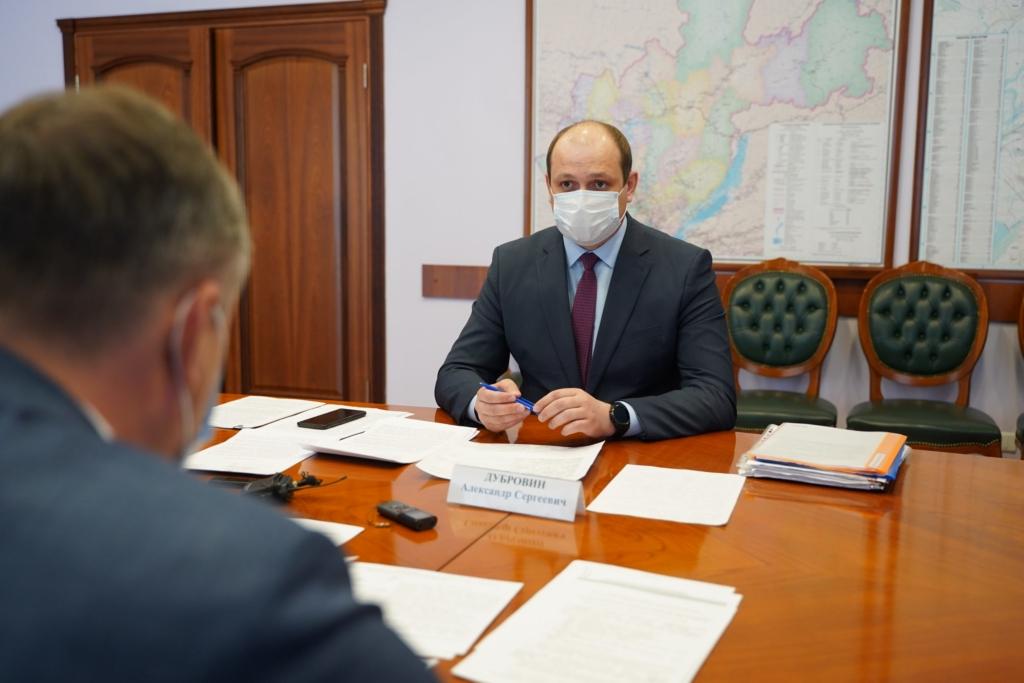 Мэр Братского района Александр Дубровин обсудил острые проблемы территории с Губернатором Иркутской области
